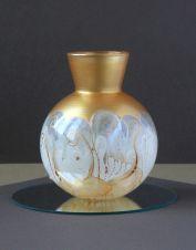 Vase-Boule-Blc-doré-100W